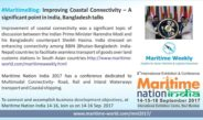 Improving Coastal Connectivity – A significant point in India, Bangladesh talks