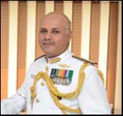 Rear Admiral Sanjay Mahindru  Flag Commanding Officer, Maharashtra Naval Area